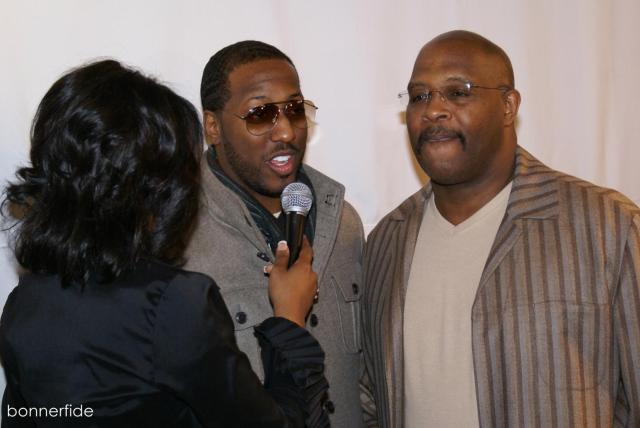 Isaac Carree and Marvin Winans in an impromptu interview