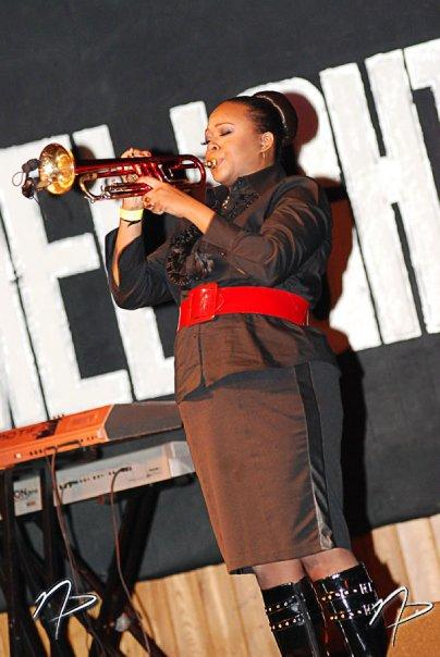 Syreeta The Trumpet lady Performing at Lime Light Venue