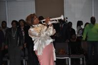 Syreeta Thompson blowing her horn!