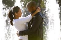 "Adrienne Bailon and Ja Rule as Vanessa and Miles in ""I'm In Love With a Church Girl"""