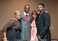 Karen Clark Sheard with her family; Kierra Sheard, Bishop Sheard, and J. Drew Sheard
