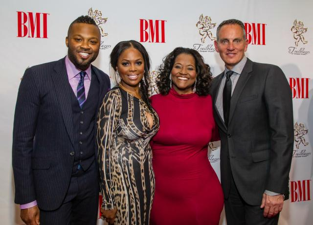 BMI Executive Director, Writer-Publisher Relations Wardell Malloy (far left), BMI Vice President,   Writer-Publisher Relations C