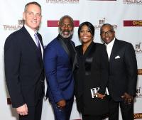 BMI President & CEO Mike O'Neill with BMI Trailblazers of Gospel Music Honorees, BeBe and CeCe Winans, and Alvin Love