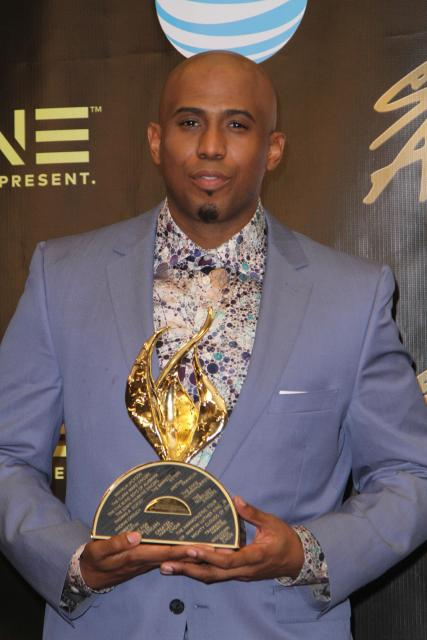 Anthony Brown with Stellar Award