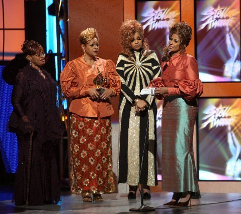 The Clark Sisters  accepting their award