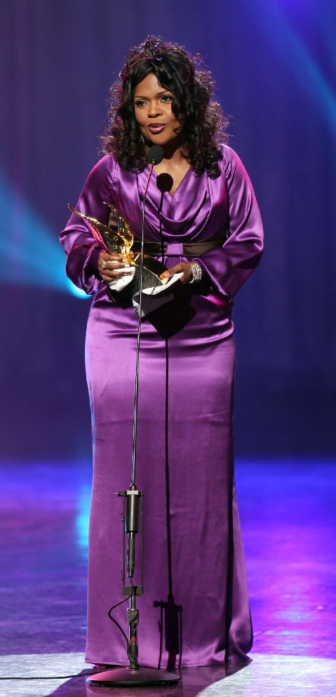 CeCe Winans accepting the Chevrolet Most Notable Achievement Award