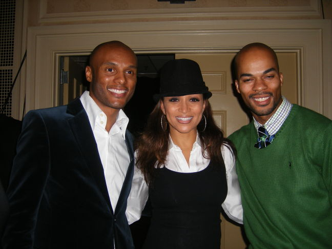 Kenny Lattimore and Chante Moore with JJ Hairston