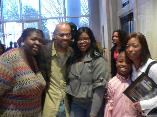 Tammy Taylor, JJ and Trina Hairston, and Maurette Brown Clark