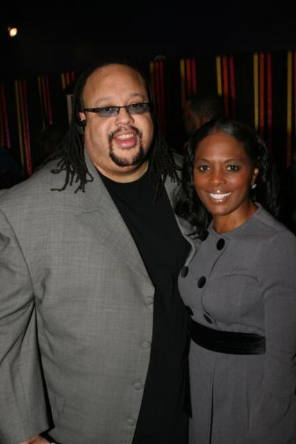 Fred Hammond with BMI VP Catherine Brewton