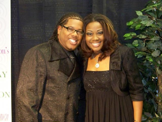 Recording artist Earl Bynum and Charmaine Swimpson