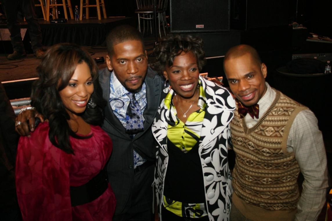 Dadra Crawford, Donald Lawrence, Angella Christie and Kirk Franklin