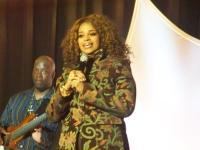 Karen Clark Sheard singing in tribute to her sister Twinkie Clark
