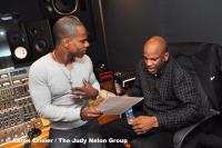 Going over the plans with Donnie McClurkin