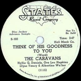 The Caravans on The States record label