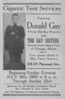 Flyer: Donald Gay and The Gay Sisters