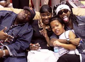 Verity publicist, Jojo Pada with B.B.Jay, Tarralyn Ramsey and Tonex