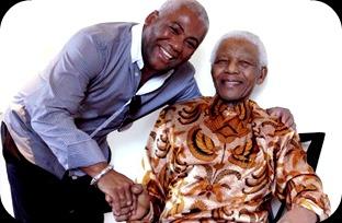 Jonathan Butler with Nelson Mandela