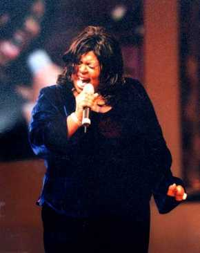 Kim Burrell at her live recording