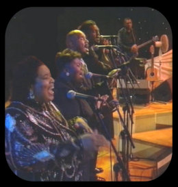 background singers, Queenie Lenox on the far left