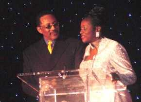 Dottie Peoples with Dr. Bobby Jones