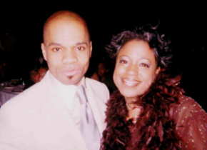 Londa Larmond with Kirk Franklin