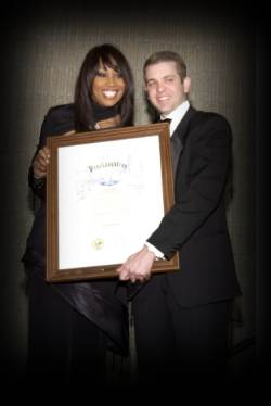 Yolanda Adams honored by the City of Houston, represented by Michael Berry