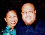 GospelFlava.com's Melanie Clark with Fred Hammond