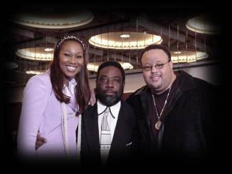 Yolanda Adams and Fred Hammond at Verity's WOW Gospel 2000 release party at the Stellar  Awards in Atlanta in January 2000