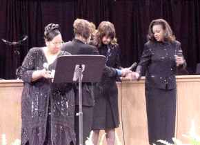The Clark Sisters at the Twinkie Clark Concert Recording